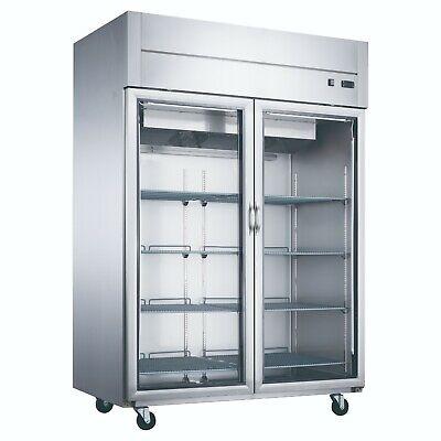 New 2 Glass Door Display Refrigerator Cooler Dukers D55ar-gs2 Nsf 2016 Reach In