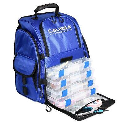 Calissa Tackle Large 'Talysc' Fishing Backpack Box Bag -