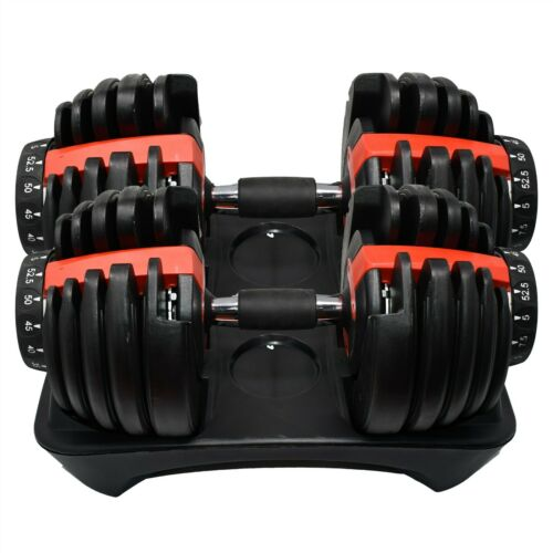 NEW Adjustable Dumbbell Dumbbells Weights 552 Set Pair 52.5lbs - TWO DUMBBELLS