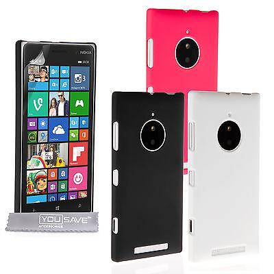 Yousave Accessories Nokia Lumia 830 Best Hard Hybrid Tough Phone Case Cover (Best Nokia Lumia Phone)