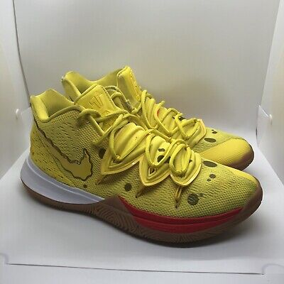 Nike Kyrie 5 Spongebob Squarepants Basketball Shoes Size 10.5 Yellow