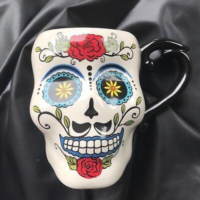 Sugar Skull Male (Cracker Barrel Stoneware Mug - Sugar Skull Male Design Cup 2018 NEW)
