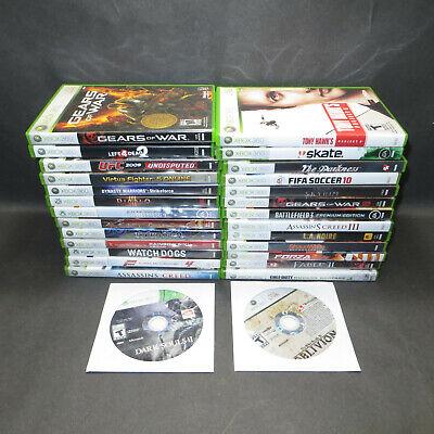 28 XBOX 360 Custom Game Bulk Lot Bundle Call of Duty Sports Battlefield Rockband