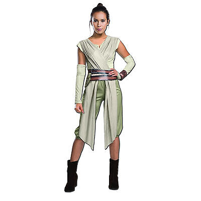 Adult Disney Deluxe Star Wars Jedi Rey Fancy Dress Party Cos play Costume Outfit