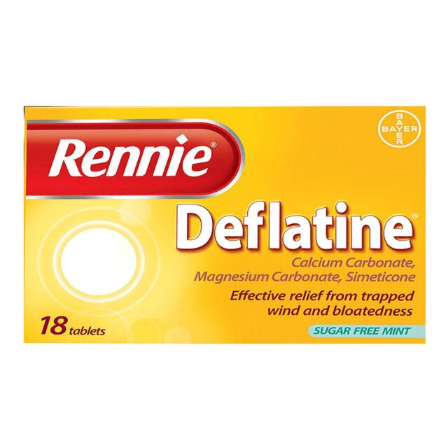 Rennie Deflatine for Trapped Wind 18 Tablets - Multibuy