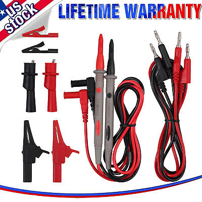 9electrical Multimeter Test Lead Kit Probes Lead With Alligator Clips Clamp Set