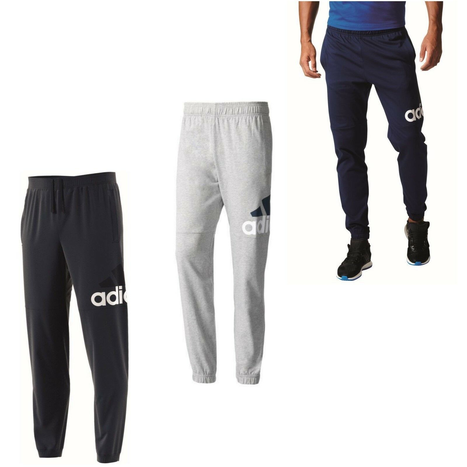 39fc224f7d8d adidas Essentials Performance Logo Jogginghose Sporthose Trainingshose  Herren