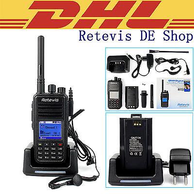 Deutschland Stock Retevis RT3 (DMR) Digital Mobile Walkie Talkie UHF 2-Way Radio