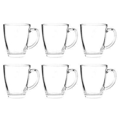 6x GLASTASSE 350 ml / Tassen Set Glas Gläser 6er Teebecher Becher Teegläser