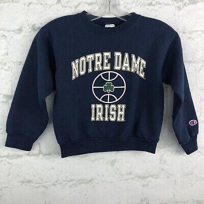 vtg Champion Boys Sweatshirt Small 8 Notre Dame Irish Crew Neck Irish Boy Sweatshirt