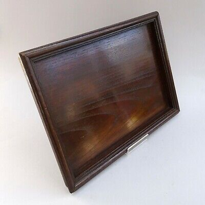 Antique Solid Oak Drinks Tray ~ 36.5cm x 26cm ~ Edwardian Wooden Tray