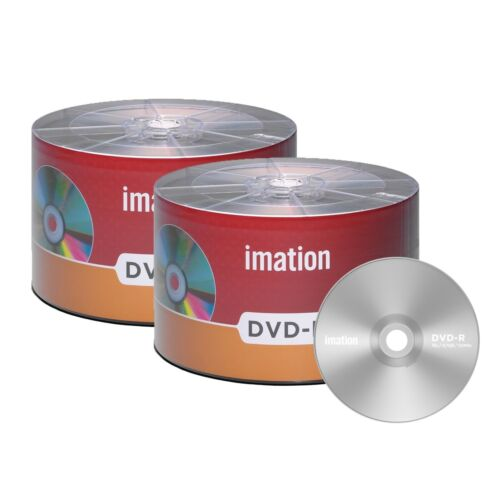 100 Pack Imation Dvd-r 16x 4.7gb/120min Branded Logo Blank Media Recordable Disc