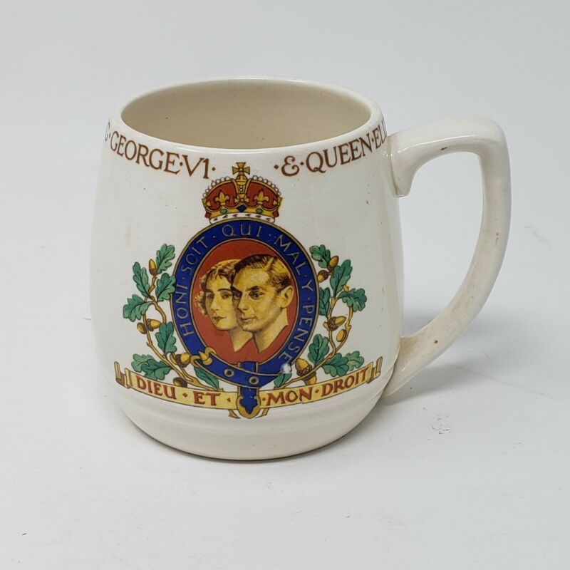 1937 KING GEORGE VI & QUEEN ELIZABETH CORONATION MUG CUP