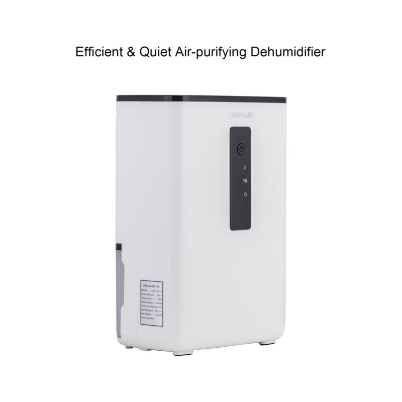 ultra quiet compact dehumidifier with uv light