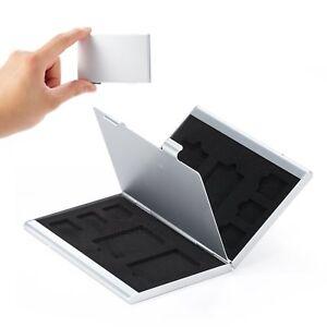 Meking Aluminio Caja de Almacenamiento Protector de tarjeta de Memoria SD SDHC TF Micro Sim Soporte de MS