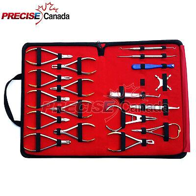 18 Pcs Basic Orthodontics Dental Instruments Set Composite Kit Premium Quality