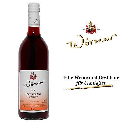 (5,63€/l) Spätburgunder Spätlese 20x0,7l WEINGUT WÖRNER Rotwein süß Wein Pfalz