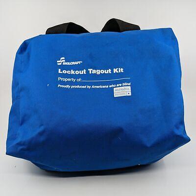 Skilcraft Portable Lockout Kit Filled Electrical Lockout Duffel Bag Blue