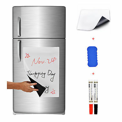 17 X 12 Refrigerator Dry Erase Magnetic Message Flexible Blank White Board