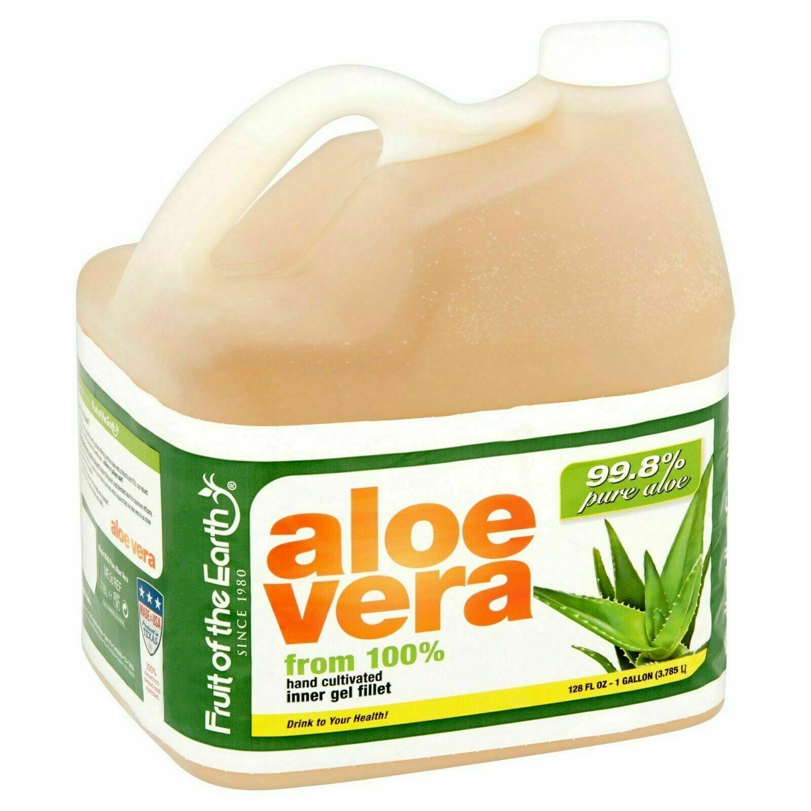 1 Gallon Organic Aloe Vera 100% Hand Cultivated Inner Fillet