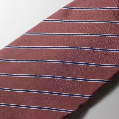 Vintage 60s Gucci Accessory Collection Pink Blue Striped Silk Tie Made in Italy