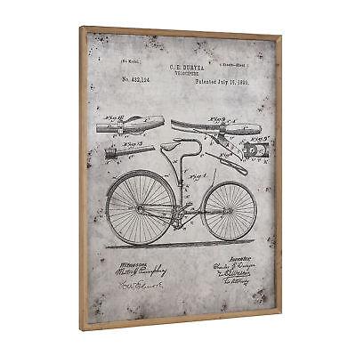 [art.work] Alu Wandbild 80x60cm Fahrrad Skizze Technische Zeichnung Bild GERAHMT