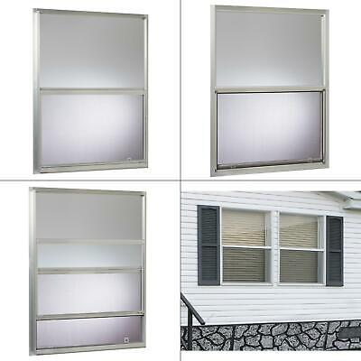 30 in. x 40 in. mobile home single hung aluminum window - silver