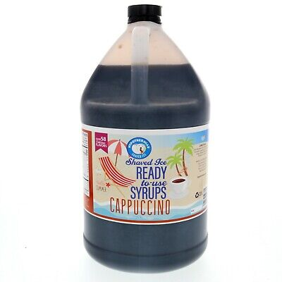 Hawaiian Shaved Ice Or Snow Cone Syrup Ready To Use Cappuccino 128 Fl. Oz