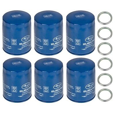 NEW 2011 2018 Subaru Pack 6 Engine Oil Filter and Gasket Impreza OEM 15208AA15A