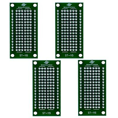4 Pack Diy Proto Perf Board Permanent Breadboard With Solder Mask 1x2 St-115