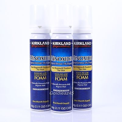 Minoxidil Foam 5  Hair Regrowth Men 3 Months Kirkland Signature