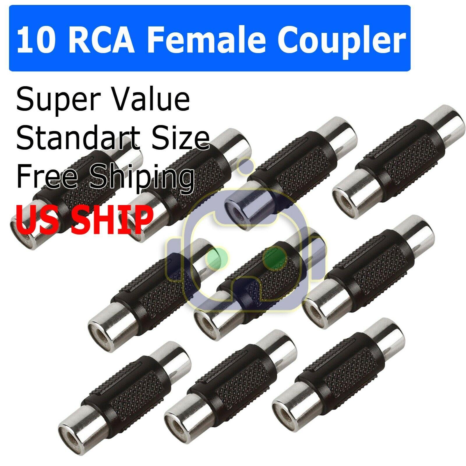 10PCS AV RCA Audio Video Female to Female Jack Coupler Adapt