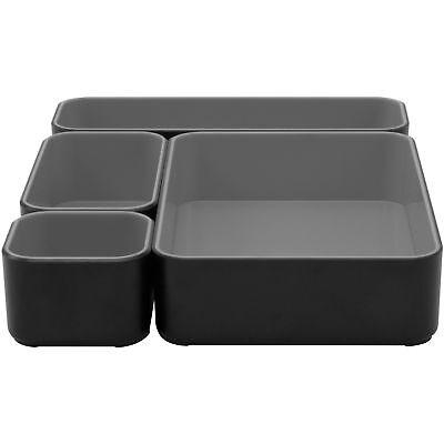 Advantus Storage Bins Stackable 12wx9lx2h Blackgray 37686