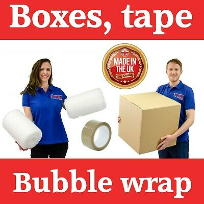 20 XLarge Cardboard Packing Moving Boxes, 1 Strong Tape & 10 Meter Bubble Wrap