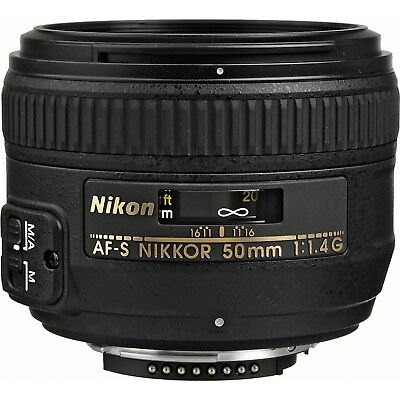 Nikon AF-S 50mm f1.4G Lens w/Unshackle Hoya UV Filter *NEW*
