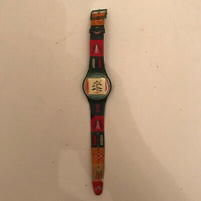 Swatch Watch PONCHO Vintage Rare 90's (1994) Forest Tribal/Aztec Watch