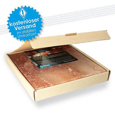 Salzstein mit Geschenkkarton zum grillen BBQ Salzplatte 20x20x2,5cm (2.2 kg)