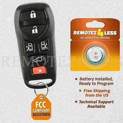 Keyless Entry Remote for 2004 2005 2006 2007 2008 2009 Nissan Quest Car Key Fob