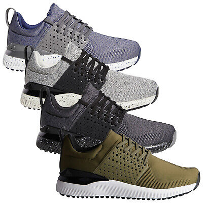Adidas Mens Adicross Bounce Spikeless Golf Shoes Textile Cushioned Trainers