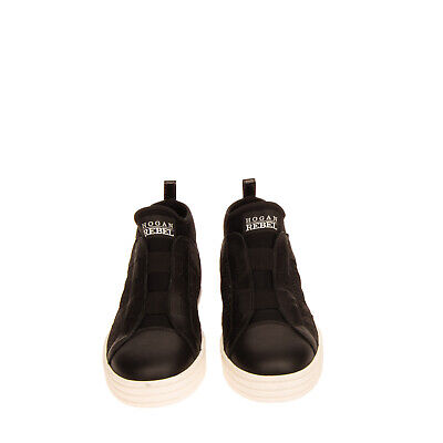 RRP €225 HOGAN REBEL High Top Sneakers Size 35 UK 3 US 5 Contrast Leather