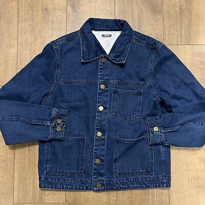 Hoxton House Of Pleasures Men's Blue Denim Jacket Size Medium Pockets Punk VGC