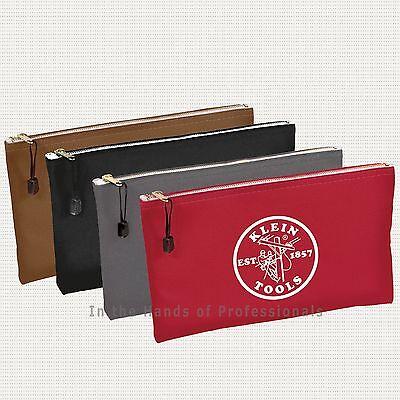 KLEIN TOOLS 5141 {Set of 4} Canvas Zipper Bags   NEW