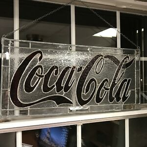 Stain glass Coca Cola sign