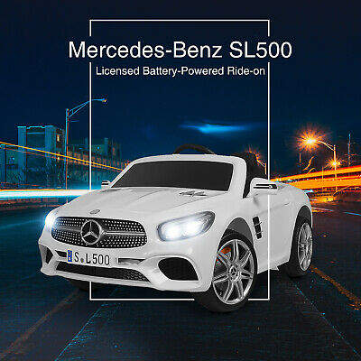 12V Toy Kids Ride On Electric Cars Benz SL500 6 Speeds w/ Remote Control White