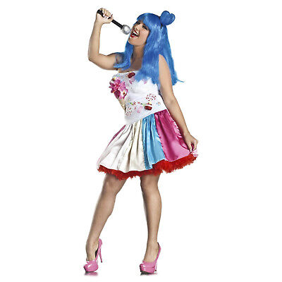 Adult Womens Plus Katy Perry Plus Candy California Girls Halloween Costume - Adult Candy Costume