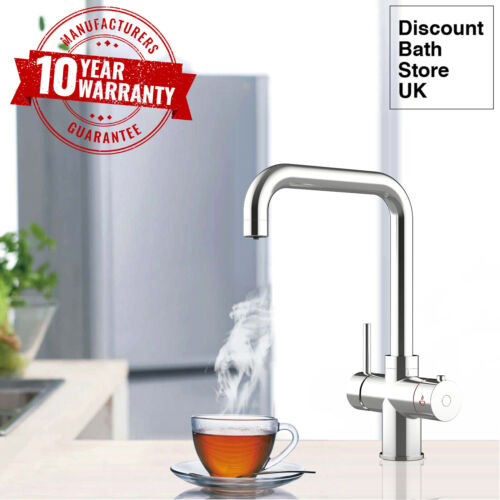 3 Way Chrome Instant Hot / Boiling Water Tap with Water Filter & Digital Heater
