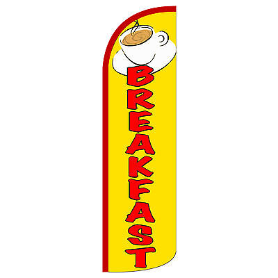 Breakfast Flag Flutter Feather Banner Swooper Extra Wide Windless