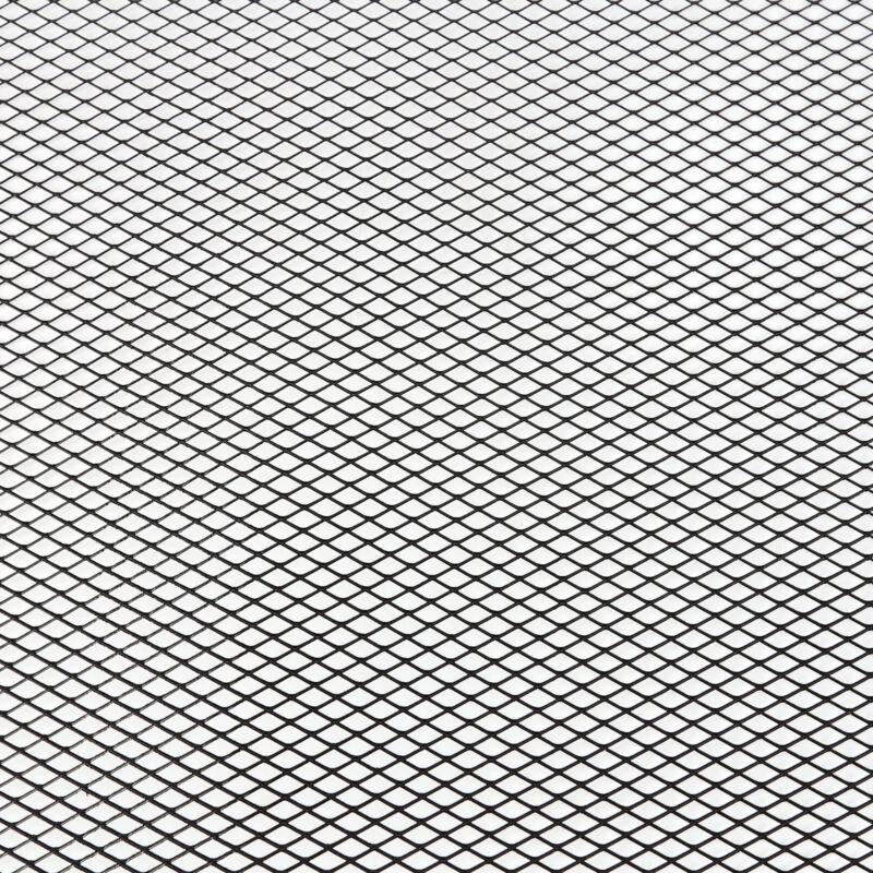 1x Black Aluminium Car Bumper Grille Grill Mesh Net Vent 10x5mm 100x33cm CT2023