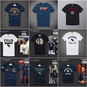 Nuevo-Para-Hombre-Abercrombie-amp-Fitch-A-amp-F-Camiseta-Talla-S-M-L-XL-XXL