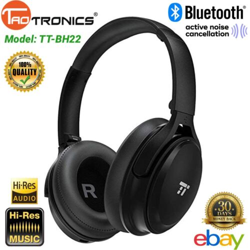 TaoTronics Active Noise Cancelling Bluetooth Headphones, Ove